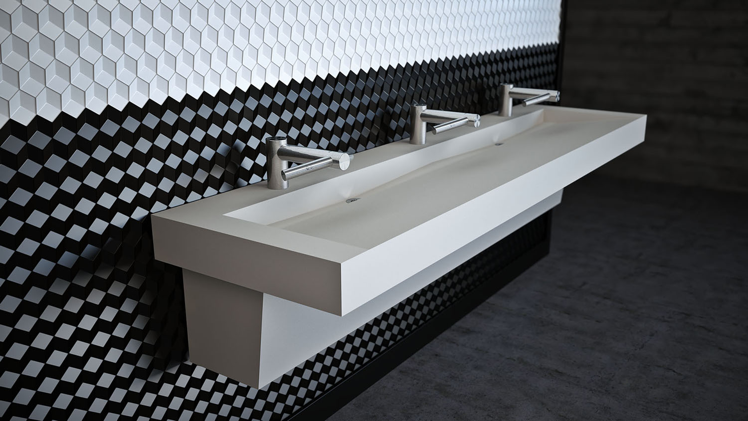 Slant Commercial Trough Sink | Ready To Ship