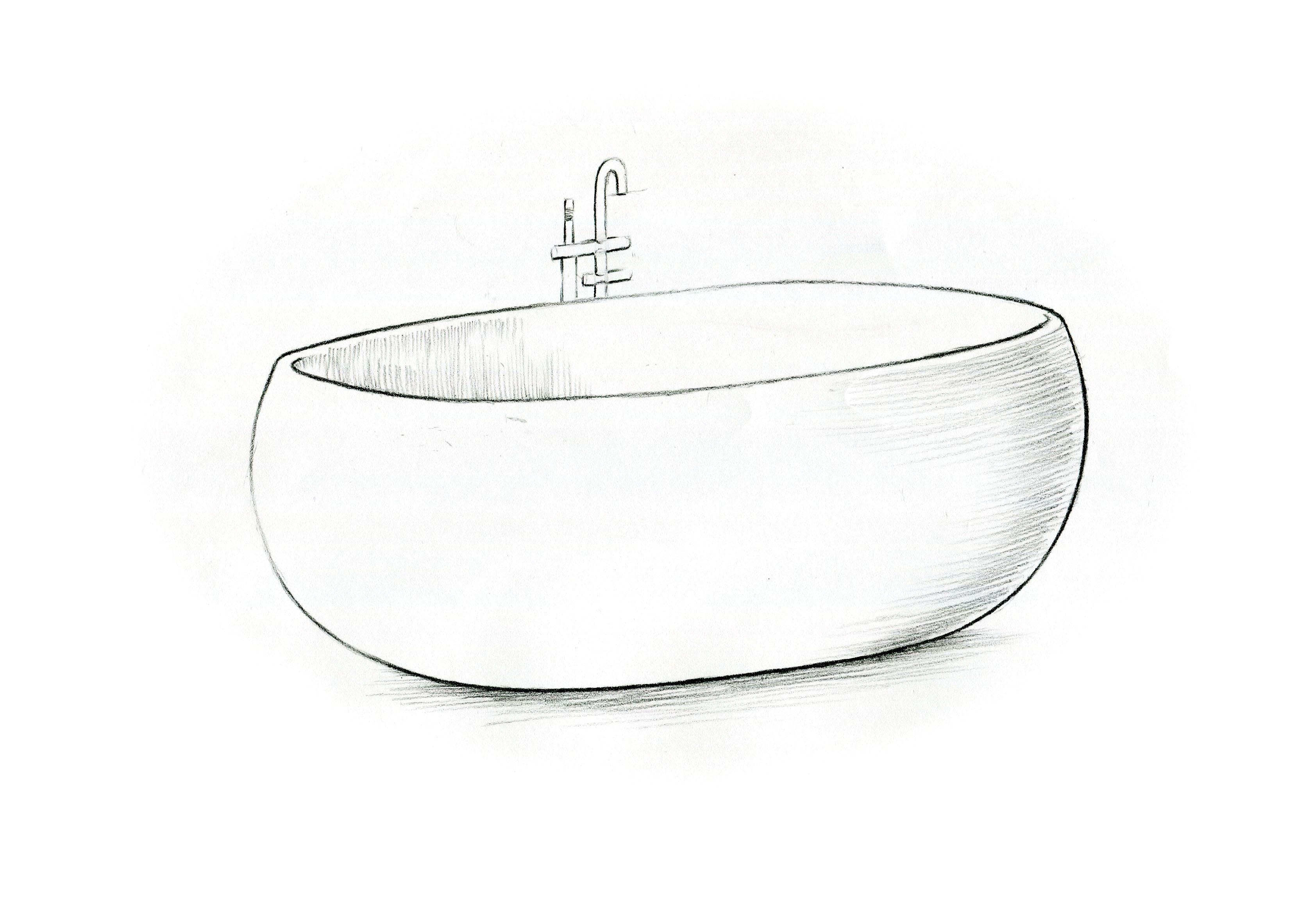 Front Concept View Mason Freestanding Bathtub